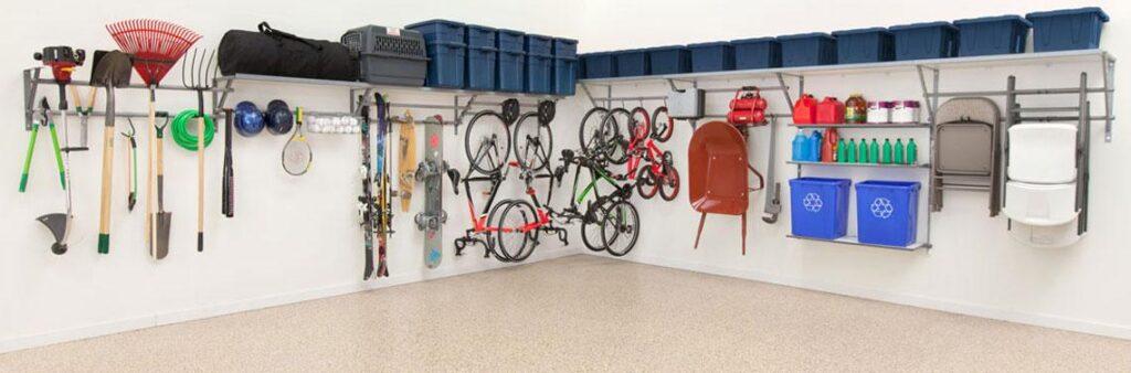 Monkey Bars Garage Shelves